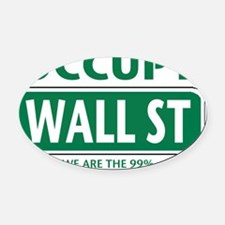 occupy wall st 99-001 Oval Car Magnet