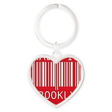 made in brooklyn Heart Keychain
