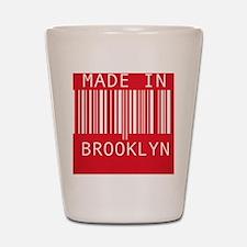 made in brooklyn Shot Glass