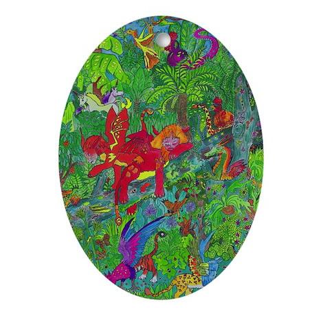 The Deep Rainforest Oval Ornament