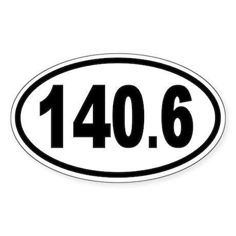 Iron 140.6 Oval Sticker