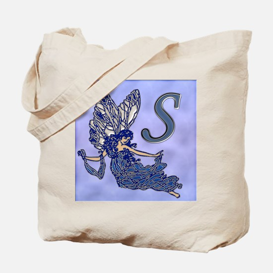 Blue Fairy Monogram BS Tote Bag