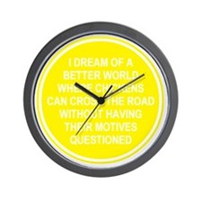 2000x2000chickens8clear Wall Clock