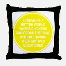 2000x2000chickens8clear Throw Pillow