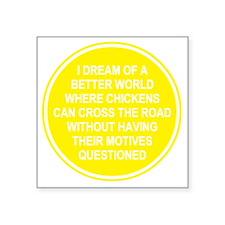 "2000x2000chickens8clear Square Sticker 3"" x 3"""