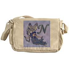 Blue Fairy Monogram BN Messenger Bag