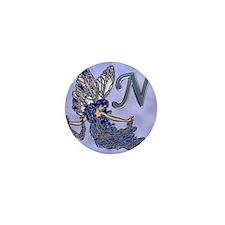 Blue Fairy Monogram BN Mini Button