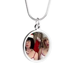 Christmas Brats Silver Round Necklace