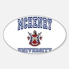 MCHENRY University Oval Decal