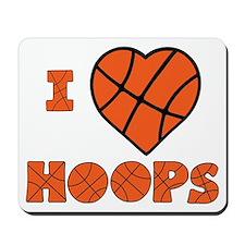 wh orange, Love Hoops Mousepad