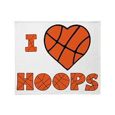 wh orange, Love Hoops Throw Blanket