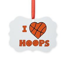 wh orange, Love Hoops Ornament