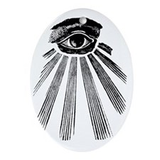 All Seeing Eye Oval Ornament
