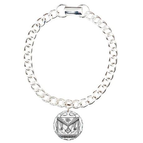 Masonic Apron Charm Bracelet, One Charm
