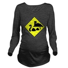 nessie copy Long Sleeve Maternity T-Shirt