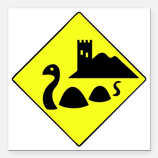 "nessie copy Square Car Magnet 3"" x 3"""