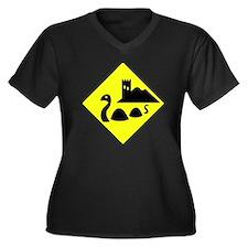 nessie copy Women's Plus Size Dark V-Neck T-Shirt