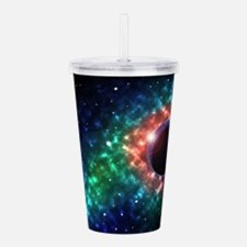 Space scenery globe pl Acrylic Double-wall Tumbler