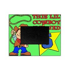 Little Cowboy Turned 5 Puzzle Picture Frame