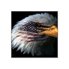 "eagleflag2 Square Sticker 3"" x 3"""