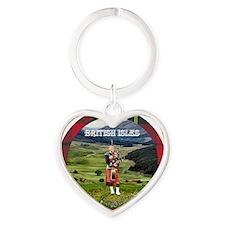 Bagpiper Farewell - Heart Keychain