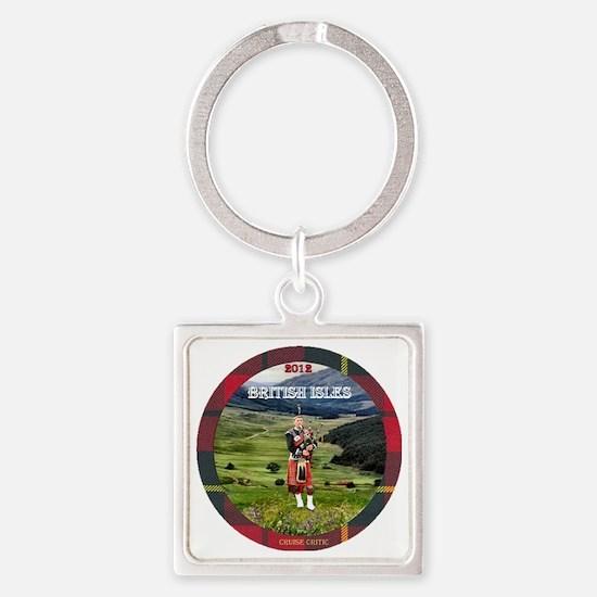 Bagpiper Farewell - Square Keychain