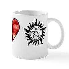 peace love spn shirt on white Mug