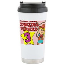 Little Cowgirl Turned 3 Puzzle Travel Mug