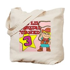 Little Cowgirl Turned 3 Puzzle Tote Bag