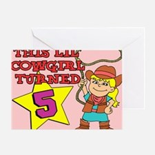 Little Cowgirl Turned 5 Puzzle Greeting Card