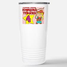 Little Cowgirl Turned 4 Travel Mug
