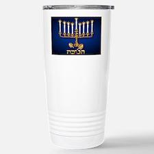 Gold Hannukah Candles-Yardsign Travel Mug