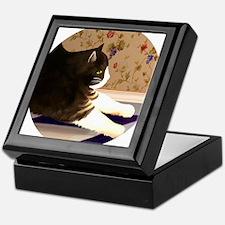 Cat Stretching Keepsake Box