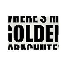 golden Parachute Rectangle Magnet