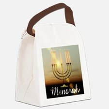 Menorah Canvas Lunch Bag