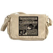 Thanksgiving meets Hanukkah Thanksgi Messenger Bag