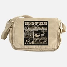 Thanksgiving meets Hanukkah Thanksgi Messenger Bag
