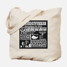 Thanksgiving meets Hanukkah Thanksgivukka Tote Bag
