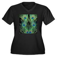 flipflops_gr Women's Plus Size Dark V-Neck T-Shirt