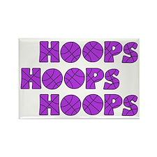 wh lavendar, Hoops Hoops Rectangle Magnet