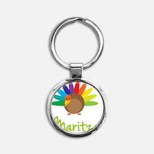 Maritza-the-turkey Round Keychain