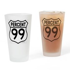 PERCENT99 Drinking Glass