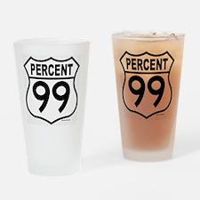 PERCENT99 Drinking Glass
