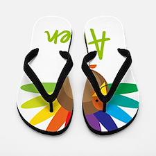 Aileen-the-turkey Flip Flops