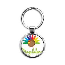 Magdalena-the-turkey Round Keychain
