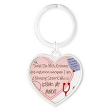 Nursing STudent Heart treat me with Heart Keychain