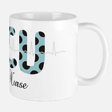 ICU Nurse QRS blue Mug