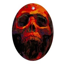 RedSkull_itouch4 Oval Ornament
