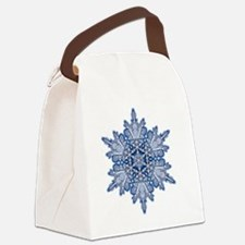 Snowflake Designs - 011 - transpa Canvas Lunch Bag