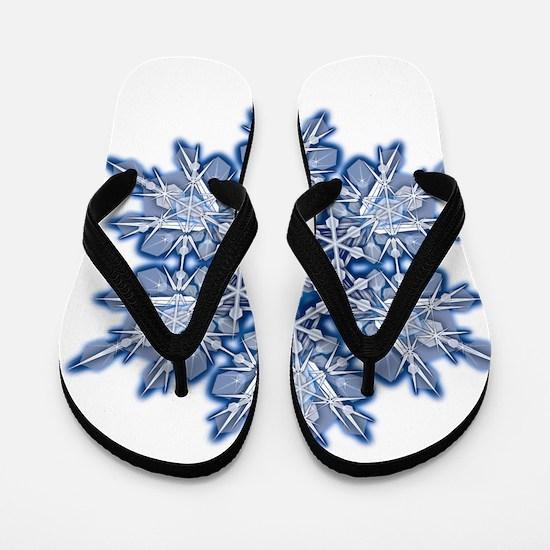 Snowflake Designs - 011 - transparent Flip Flops